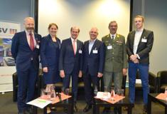 Lesch (OHB), Haberler-Weber (ÖBB), Rohracher (GSV), Klug (Wiener Netze), Teichmann (BMLV), Muckenhuber (Virtual Vehicle),